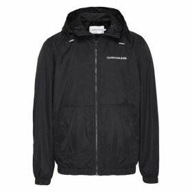 Calvin Klein Jeans Hooded Zip Jacket - CK Black
