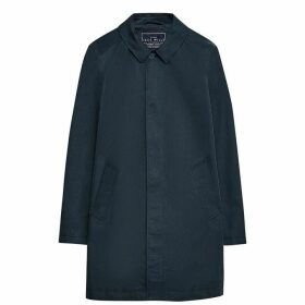 Jack Wills Dundraw Garment Washed Mac - Navy