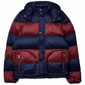 Jack Wills Moxley Colour Block Puffer Jacket - Damson