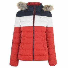 Tommy Jeans Colour Block Jacket - FLAME SCARLET