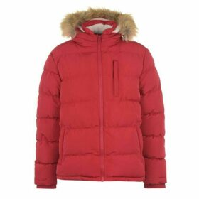 SoulCal 2 Zip Bubble Jacket Mens - Red