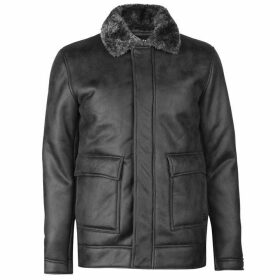 Firetrap Blackseal Shearling Jacket - Grey