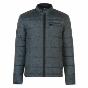 Lee Cooper Textured Funnel Jacket Mens - Charcoal