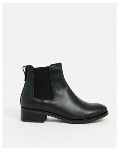 ALDO leather flat ankle boots in black