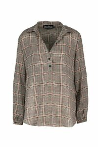Womens Checked Blouse - multi - 10, Multi