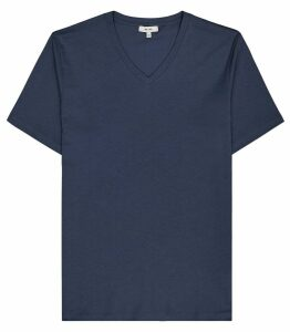 Reiss Dayton - V-neck T-shirt in Airforce Blue, Mens, Size XXL