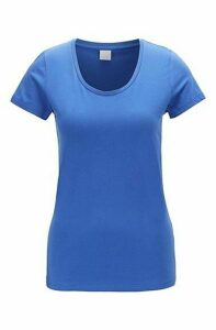 Scoop-neck jersey top in a pima-cotton blend
