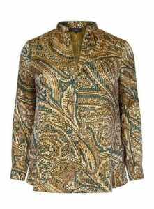 **Live Unlimited Multi Coloured Satin Shirt, Dark Multi