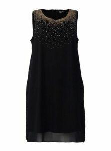 **Izabel Curve Black Embellished Shift Dress, Black