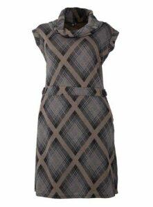 **Izabel Curve Black Knitted Tunic Dress, Black