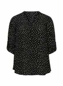 Black Dash Spot Jersey Shirt, Black