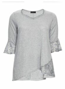 **Grace Grey Lightweight Tunic Jumper, Silver