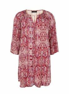*Alice & You Raspberry Snake Printed Tunic Dress, Pink