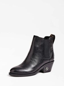Guess Macada Leather Logo Low Boot