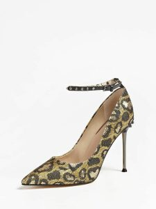 Guess Oleane Animalier Sequin Court Shoe