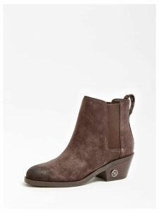 Guess Macada Suede Low Boot Glitter Insert