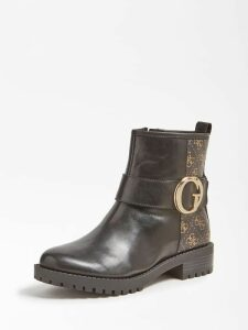Guess Hadasan Leather Logo Low Boot