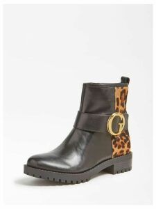 Guess Hadasan Animalier Leather Low Boot