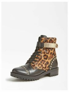 Guess Haleigh Animalier Leather Boot