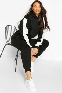 Womens Tall Side Stripe Oversized Hoody - black - 16, Black
