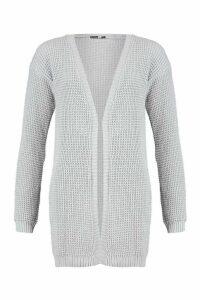 Womens Tall Edge to Edge Cardigan - grey - M/L, Grey