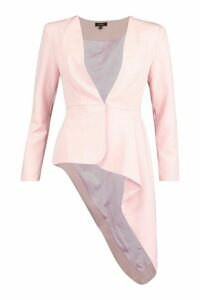 Womens Premium Asymetric Blazer - Pink - 12, Pink