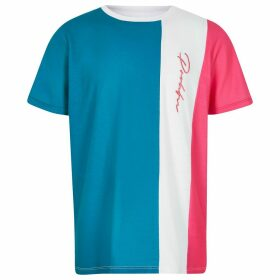 River Island Blue colour block Prolific T-shirt