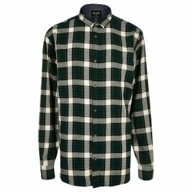 Mens River Island Only & Sons Big and Tall Green check shirt