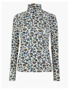 M&S Collection Cotton Rich Floral Top