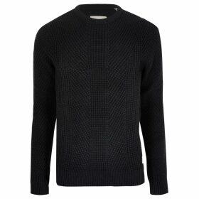 Mens River Island Jack and Jones Navy knit jumper