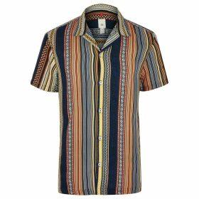 Mens River Island Big and Tall Orange aztec shirt