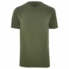 Mens River Island Khaki 'Svnth' slim fit T-shirt