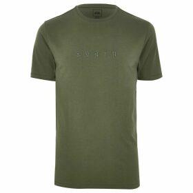 Mens River Island Khaki 'Svnth' slim fit T-shirt