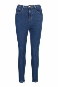 Womens High Rise Super Stretch Skinny Jean - Blue - 6, Blue