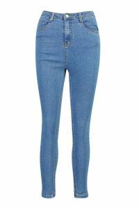 Womens High Rise Super Stretch Skinny Jean - Blue - 18, Blue