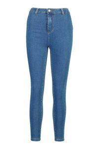 Womens High Rise Super Stretch Disco Jean - Blue - 12, Blue