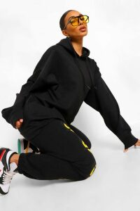 Womens The Basic Mix & Match Oversized Hoodie - black - M, Black