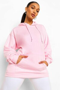 Womens The Basic Mix & Match Oversized Hoodie - Pink - M, Pink