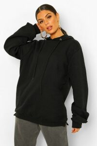 Womens Extreme Oversized Hoodie - black - 14, Black