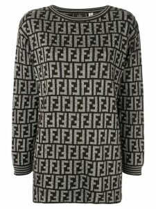 Fendi Pre-Owned Zucca crew-neck jumper - Brown