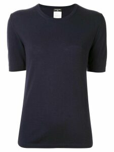 Chanel Pre-Owned knitted short-sleeved T-shirt - Blue