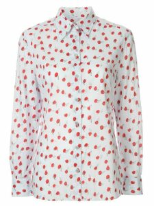 Chanel Pre-Owned 1999 Camellia print shirt - Blue