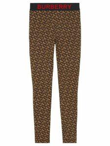 Burberry monogram print stretch leggings - Brown