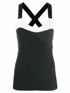 No Ka' Oi striped colour block tank top - Black