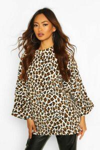 Womens Oversized Slouch Fleece Top - Multi - M, Multi
