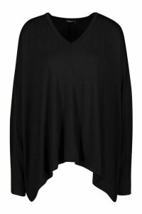 Womens Loose Fitting Boxy Top - Black - 8, Black
