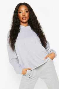 Womens The Basic Oversized Hoody - Grey - 16, Grey