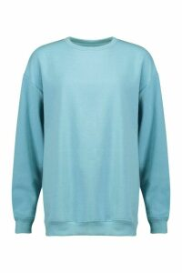 Womens The Basic Boyfriend Sweatshirt - blue - 14, Blue
