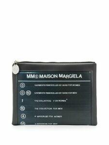 Mm6 Maison Margiela logo-print clutch - Grey