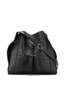 Mulberry Millie croc-effect small tote bag - Black